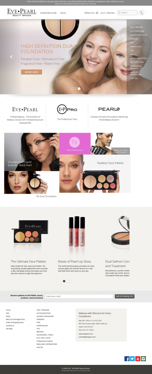 Adrecom's E-Commerce Suite Helps Eve Pearl Upgrade its Brand