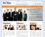 De Vore Recruiting Renovates its Site with Adrecom CMS