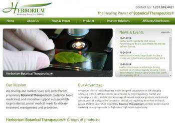 Publicly Traded Botanical Therapeutics® Marketer Transforms Corporate Web Presence with Adrecom CMS Suite