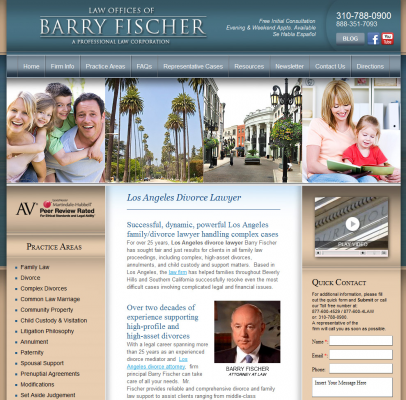 Adrecom's CMS Systems Enhanced the Web Presence of The Law Office of Barry Fischer