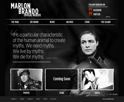 Marlon Brando Official Website Reopened with Implementation of Adrecom CMS Suite