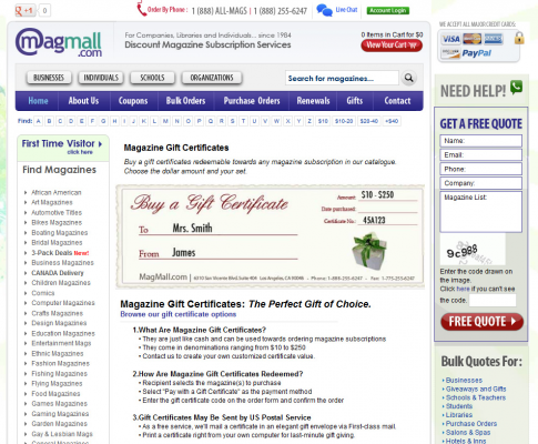 The Utilization of Gift Certificates from an E-Commerce Perspective