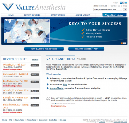 Big Value for Valley Anesthesia in eCommerce Management Update