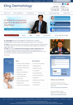 Leading New York Dermatologist Renovates Web Presence with Adrecom's CMS Suite and Web-Content Migration Services